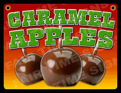 Caramel Apple Sign- Concession Trailerstandrestaurant 12 X 17 Pvc
