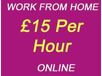 Part time job - work from home - £15 Per Hour , Immediate Start, No Experience inc Student