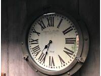Industrial look wall clock