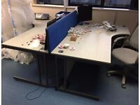 Strong large L shape desks with drawers, excellent condition.