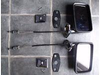 Genuine Jaguar XJ6 Pair of Chrome Door Mirrors & Chrome Mirror Control Escutcheons