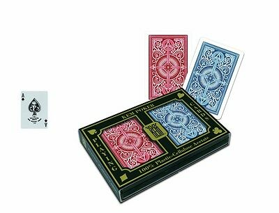 KEM Arrow Red and Blue Poker Size Standard Index Playing Cards New