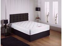★★ 70% OFF NOW ★★ BRAND NEW DOUBLE DIVAN BASE WITH WHITE ROYAL FULL FOAM (WITHOUT SPRINGS) MATTRESS