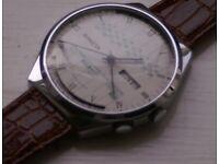 Raketa manual wind mechanical calendar wristwatch - 20th century - Vintage - Russia/CCCP