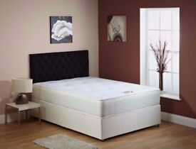 🛑🛑SALE Brand New🛑🛑 Double/Small Double LEATHER BED w/ 10inch thick Full Orthopaedic Mattress🛑🛑