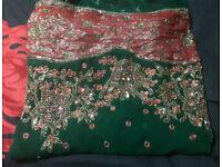MEGA SALE LADIES BRIDAL INDIAN LEHENGA SAREE DRESS BLOUSE SKIRT PARTY WEDDING SIZE 14-16 BRIDAL WEAR