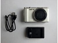 Casio Exilim EX-ZR1500 White Digital Camera - 16 Megapixels, Tilting Screen - Like New Condition
