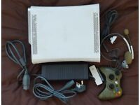 Xbox 360 Arcade Console with Leads, Controller, 120GB HDD, Wireless Adapter, 7 Games and Headset.