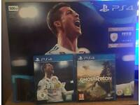 Ps4 500gb with 2 games