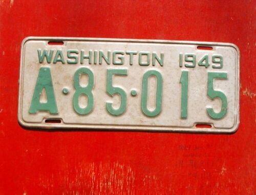 1949 Washington Nice Original A-85-015 King Co. License Plate