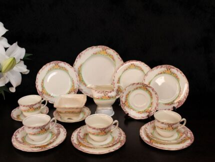 ROYAL WINTON GRIMWADES ENGLAND 'MAY BLOSSOM' TEA SET WITH CREAMER Bangor Sutherland Area Preview