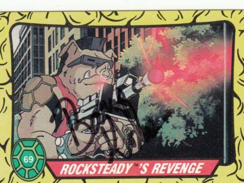 BARRY GORDON signed 1989 TOPPS (TEENAGE MUTANT NINJA TURTLES) card #69 W/COA