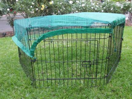 6 Panel Pet Dog Puppy Guinea Pig Rabbit Enclosure PlayPen Cover Athelstone Campbelltown Area Preview