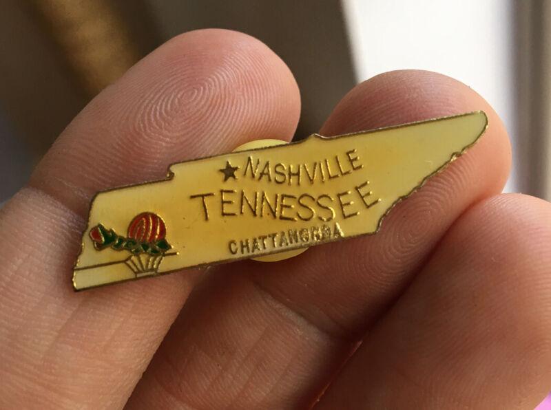 Tennessee enamel pin vintage NOS Nashville hat lapel bag tourist souvenir 80s