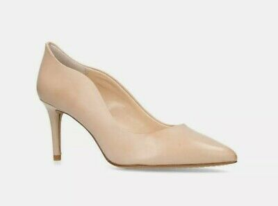 JAYNITAWOMENS VINCE CAMUTO NUDE LEATHER COURTS SHOES SIZE 6 RRP £99
