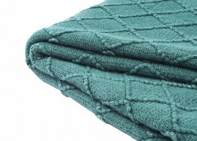 Throw Covers for Couch Sofa Textured Solid Soft Knitted Blan