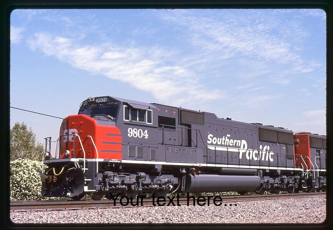 Q724 Orig Slide Southern Pacific 9804 SD70M On 9-94 - $4.45