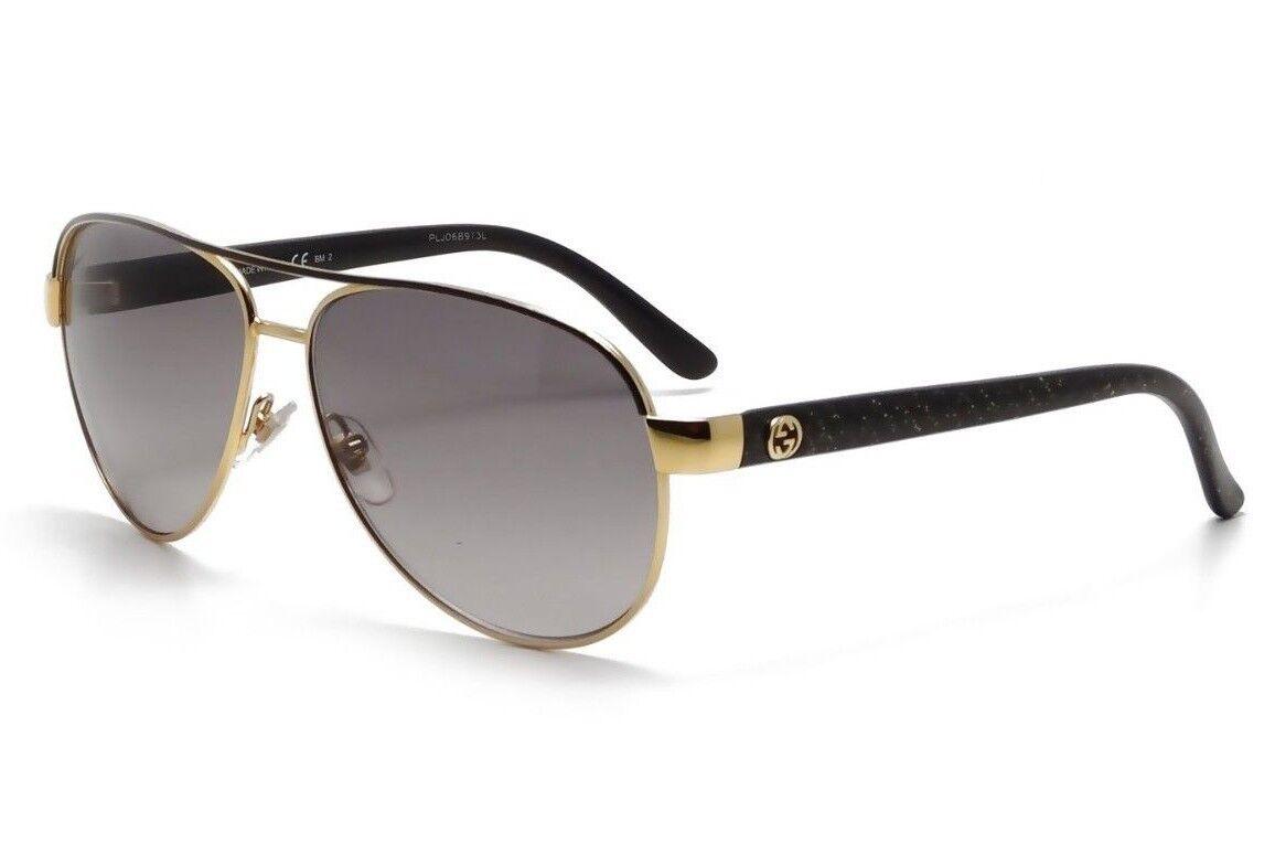 895e1ddd25 GUCCI Aviator Sunglasses GG 4239 S DYOEU Metal Gold Black Grey Purple  Gradient. Состояние
