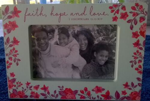 """Dayspring~Inspirational Picture Frame~""""Love Faith Hope"""" ~ FREE Shipping"""