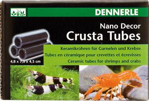 Dennerle Crusta Shrimp Tubes S3 & Fish Fry Hides - Aquarium Decoration Cave