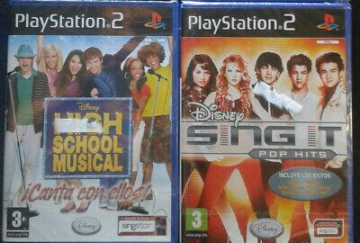 LOTE 2 JUEGOS MUSICA PS2: DISNEY SING IT POP HITS Y HIGH...