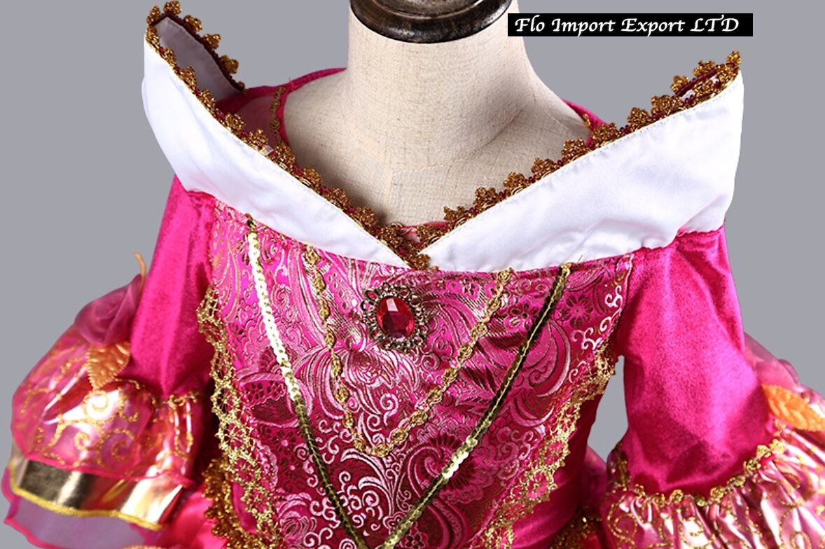 Aurora Vestito Carnevale Maschera Princesses Girl Dress up Costume AUR001