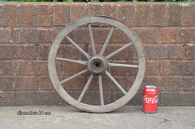 Vintage old wooden cart wagon wheel  / 44 cm - FREE DELIVERY