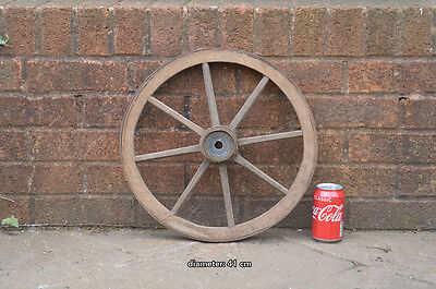 Vintage old wooden cart wagon wheel  / 41 cm FREE DELIVERY