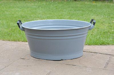 51 cm - old enamelled enamel washing bowl shabby bath chic -  FREE POSTAGE