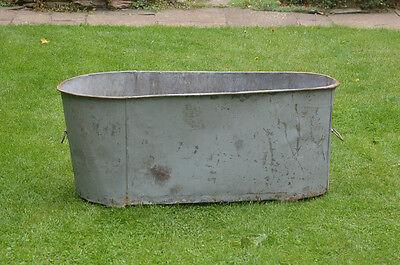 Antique galvanized bath old metal bath washing tub vintage tin bath retro bath