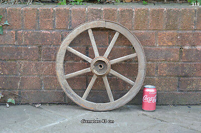Vintage old wooden cart wagon wheel  / 43 cm FREE DELIVERY