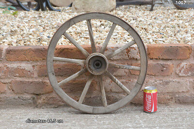 46.5 cm - vintage old wooden cart wagon wheel - FREE DELIVERY