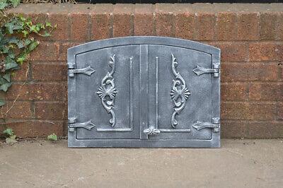 54.8 x 40.5 cm cast iron fire door clay bread oven pizza stove smoke house doors