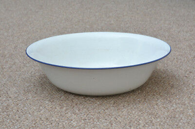 old enamelled washing bowl shabby bath chic enamel 40 cm FREE POSTAGE