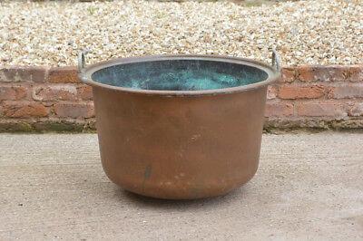 old copper pot boiler vintage antique large cauldron boiler pot - FREE DELIVERY