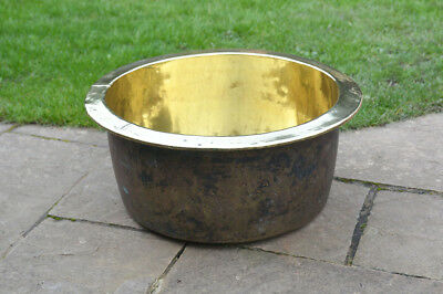 brass pot vintage antique brass pot cauldron brass cooking pot- FREE DELIVERY