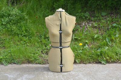 old vintage tailor dummy Dressmakers female adjustable mannequin  - FREE POSTAGE for sale  Exmouth