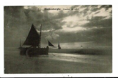 CPA Carte Postale Belgique-Blankenberge- Coucher du soleil -1922-VM12054