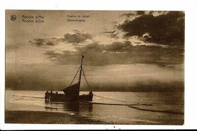 CPA Carte Postale Belgique-Knocke-Coucher de soleil--1932- VM12051