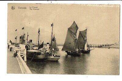 CPA Carte Postale Belgique-Oostende - Le Chenal-1923--VM12534