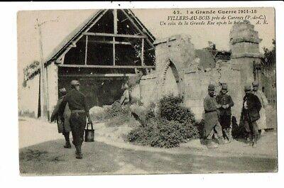 CPA_Carte Postale-France-Villers au Bois- un coin de la grande rue 1914-1915