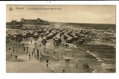 CPA-Carte Postale-Belgique-Oostende - Vue Panoramique de la Plage