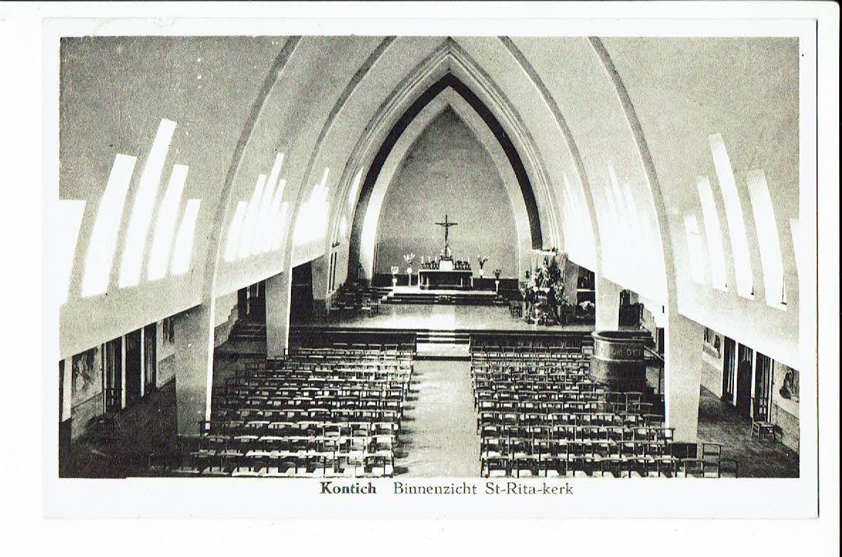 CPM - Carte postale -BELGIQUE - Kontich - Binnenzicht St Rita Kerk-1984 - S 2282