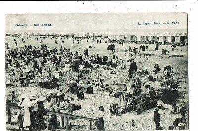 CPA-Carte Postale-Belgique-Oostende- Sur le sable - VM9120