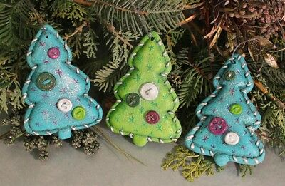 Ceramic Bisque Ready to Paint (3)Softy Christmas Tree ornaments Free Shipping