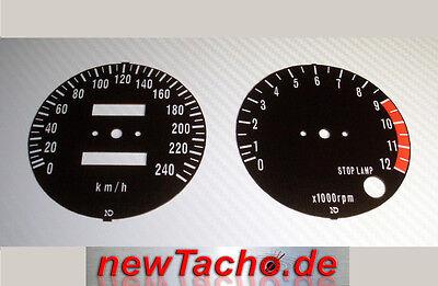 Kawasaki Z1 Z1A Z1000 900 750 schwarze Tachoscheiben Km/h Gauge Tacho dial Set, gebraucht gebraucht kaufen  Deutschland
