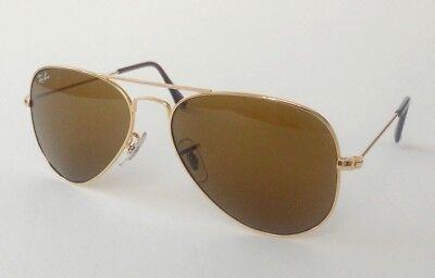 New Ray Ban Aviator RB 3025 001/33 gold/brown sunglasses size 58mm medium