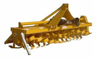 Rotary Gear Driven Tiller 7ft - 50 to 65 Hp - Cat 1 or 2 - Straddle Hitch 3 PTO