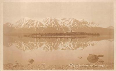 RPPC ATLIN LAKE REFLECTIONS ALASKA REAL PHOTO POSTCARD (c. (Reflection Lake Alaska)