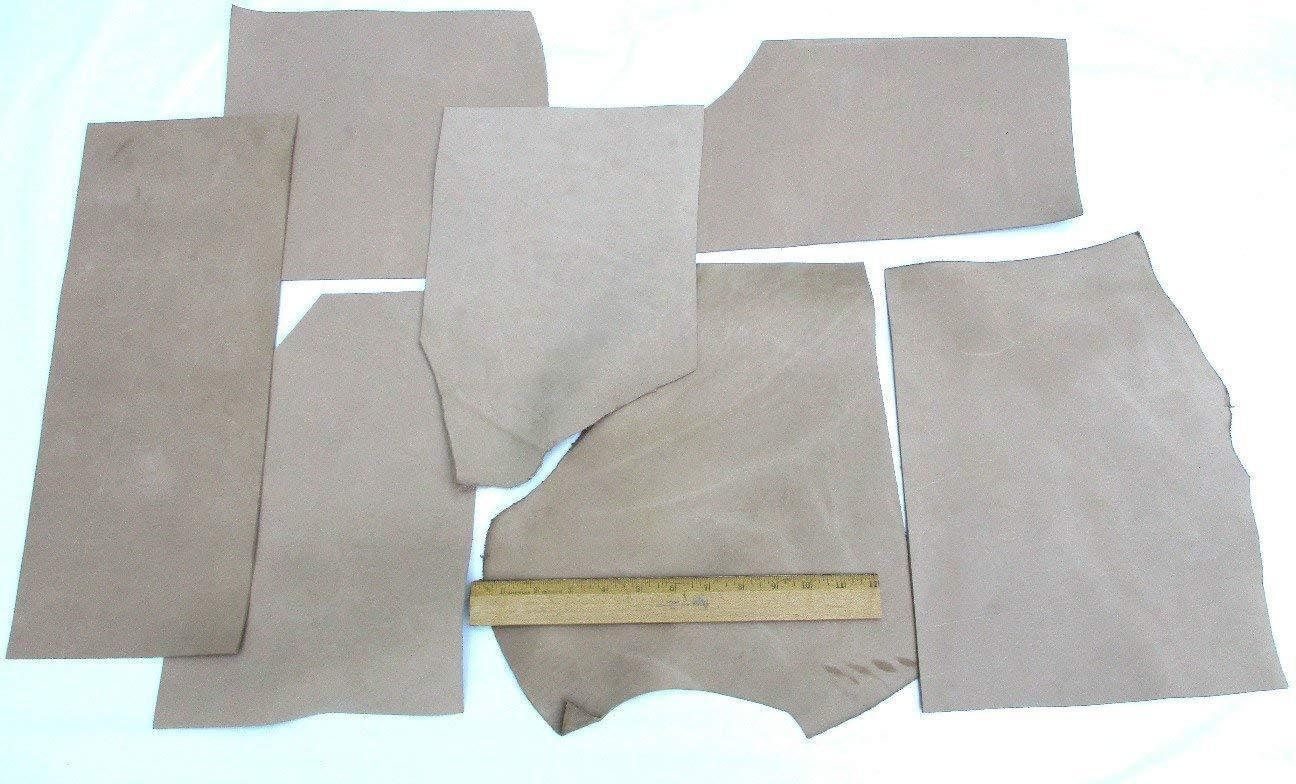 Scrap Upholstery Leather Craft Mixed Medium Pieces 6 Square Feet